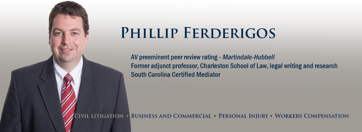 header image of Barnwell Whaley attorney Phillip Ferderigos for bio page