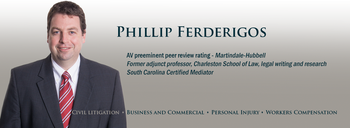 banner image for attorney Phillip Ferderigos