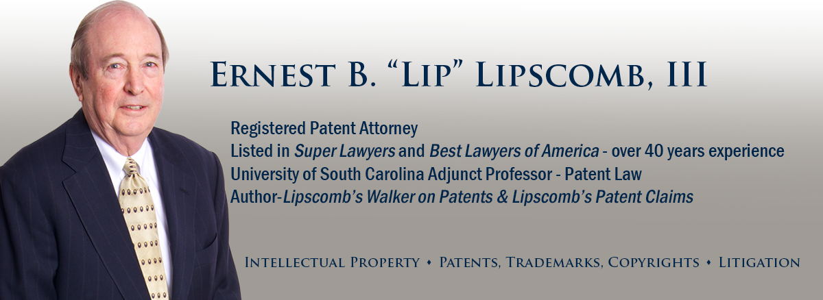 header image of Barnwell Whaley patent attorney Ernest Lipscomb III for bio page