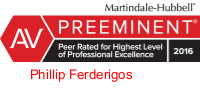 Phillip_Ferderigos-AV rated Martindale Hubbell attorney logo