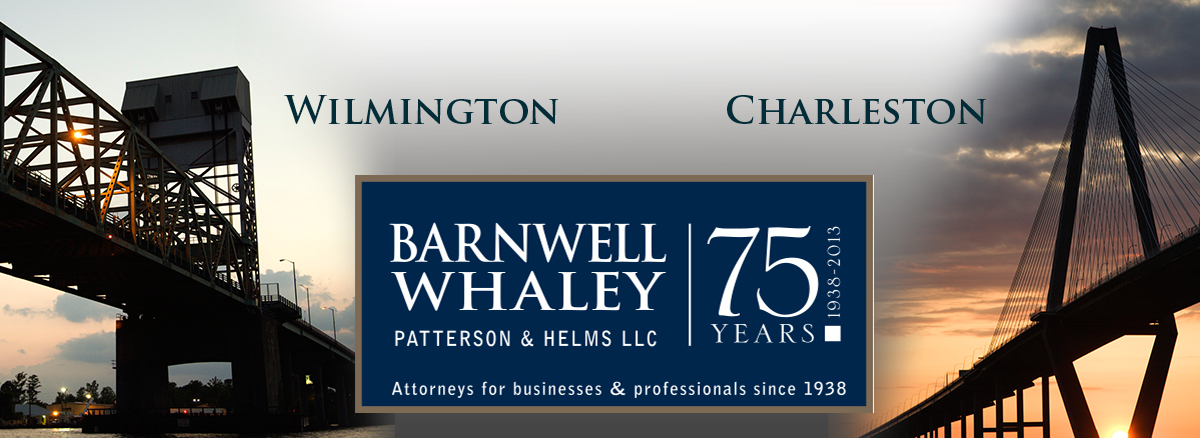 header image for Wilmington and Charleston offices of Barnwell Whaley