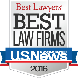 2016 US News Best Law Firms logo badge