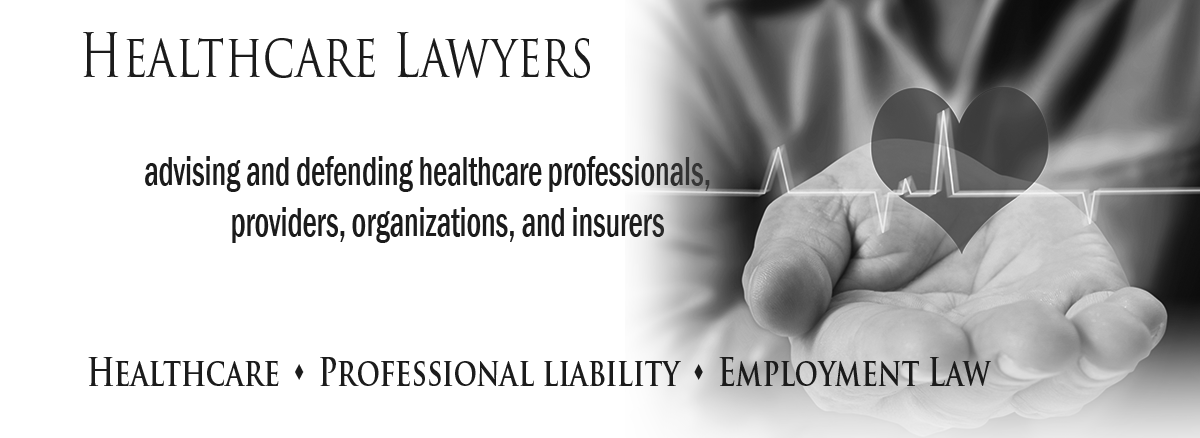 black and white header image for healthcare attorneys