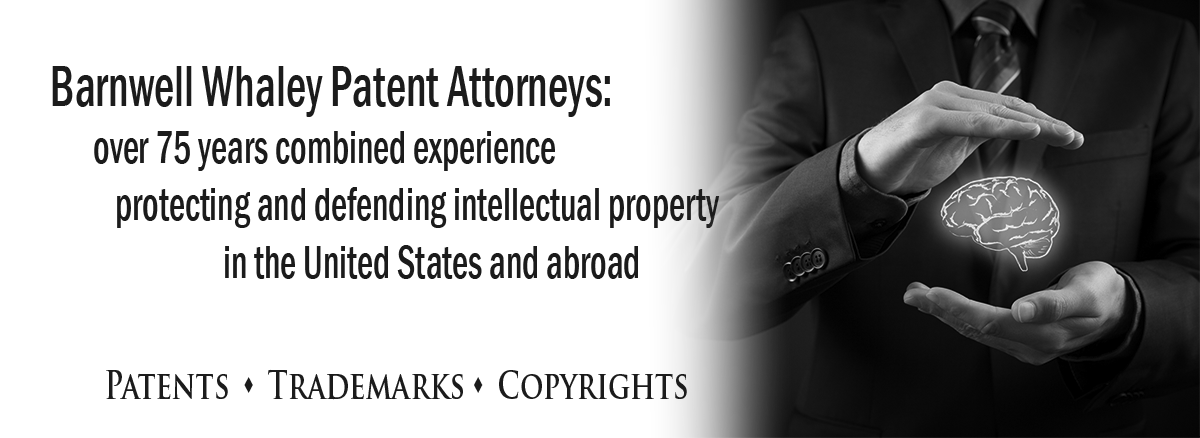 black and white banner image for intellectual property practice