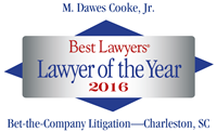 Dawes Cooke, 2016 Best Lawyers Lawyer of the Year logo