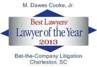 logo for Dawes Cooke 2013 Best Lawyers Charleston Bet the Company Lawyer of the Year
