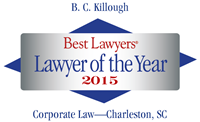 Killough 2015 Corporate Lawyer of the Year logo