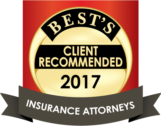 A.M. Best 2017 client recommended insurance attorneys logo