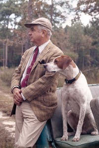 photo of Ben Scott Whaley with his hunting dog