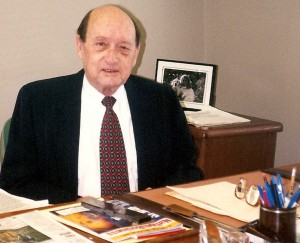 image of Barnwell Whaley founding member Robert Patterson at his desk