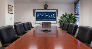 image of conference room A at Barnwell Whaley law firm