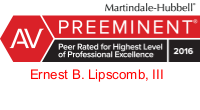 Ernest_B_Lipscomb_III-AV rated Martindale Hubbell attorney logo