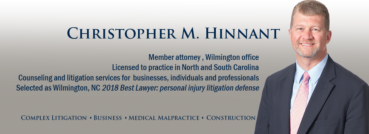 header image of Barnwell Whaley attorney Chris Hinnant for bio page