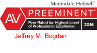 Jeffrey_M_Bogdan Martindale Hubbell AV rating logo