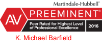 K_Michael_Barfield-AV rated Martindale Hubbell attorney logo