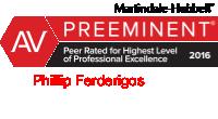 Phillip_Ferderigos-AV rated Martindale Hubbell attorney logo