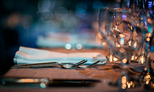 hospitality law image of an elegant table setting