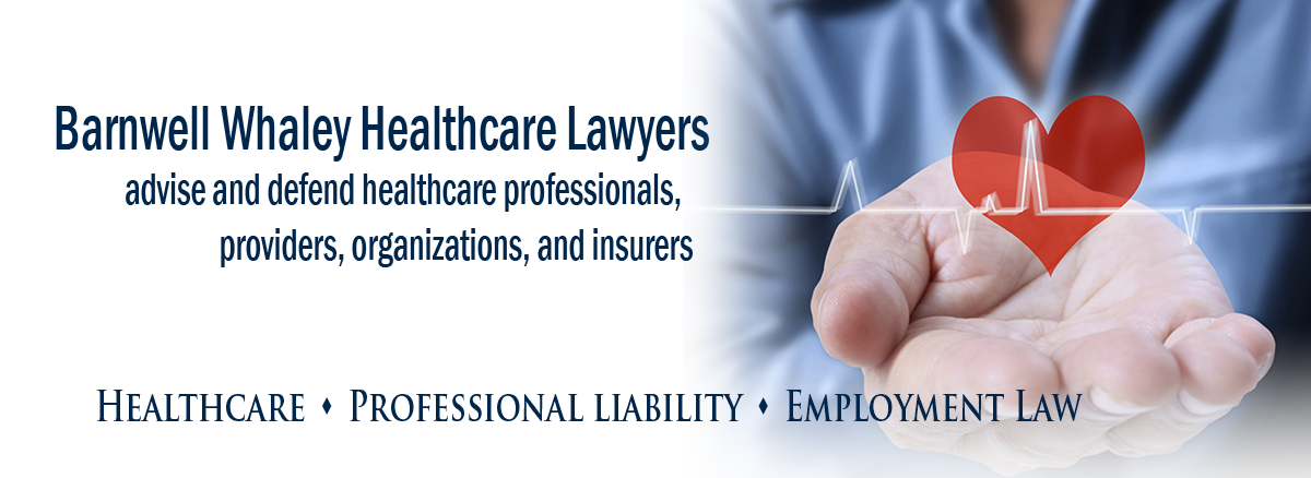 healthcare lawyer header image for rotating slides which includes a photo of an open hand with the graphic of a heart inside and an ekg heart monitor reading graphic line