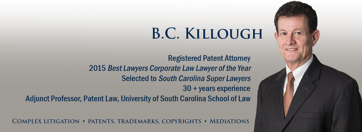 header image of South Carolina patent attorney BC Killough for bio page