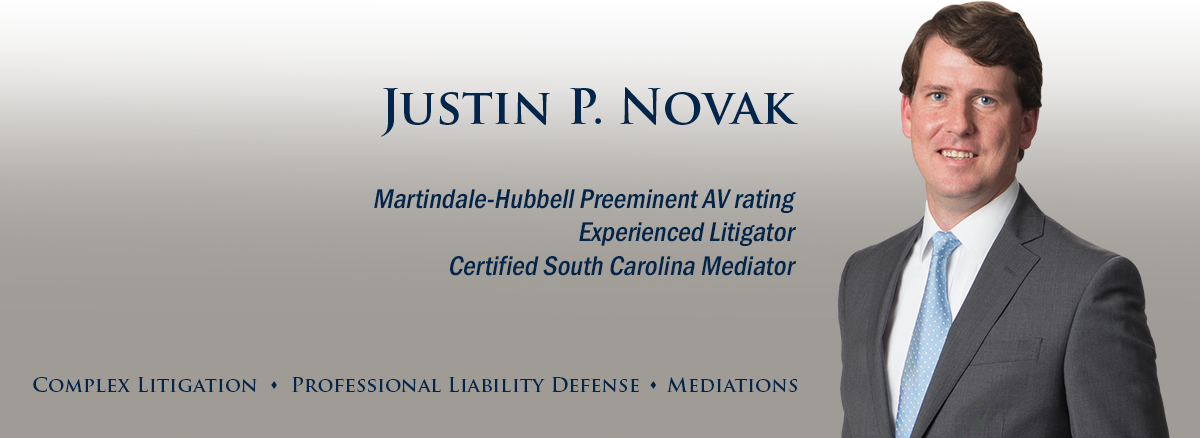 header image of Barnwell Whaley attorney Justin Novak for bio page
